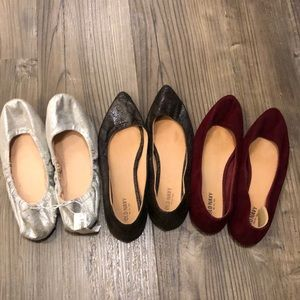 Lot of 3 Old Navy size 7 flats!